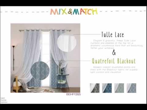 Best Home Fashion - Mix and Match Curtains (Tulle Lace & Quatrefoil Blackout)