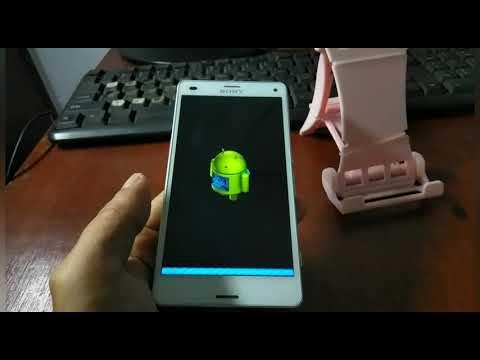 Flash Userdata saja biar proses cepat #SonyZ3Compact #SonyS002G #LockScreen..