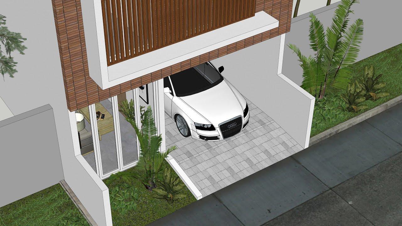 Desain Rumah Split Level Minimalis 2 Lantai dengan Rooftop ...