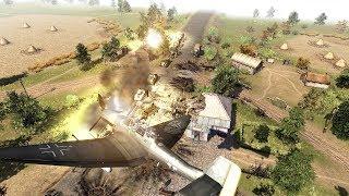 Luftwaffe Bombers Strike Soviet Defense Line 1941 Barbarossa | Men of War: Assault Squad 2 Gameplay