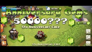Clash of Clans - 5th Anniversary CAKE - What is inside the cake! Do not Miss #Clashiversary