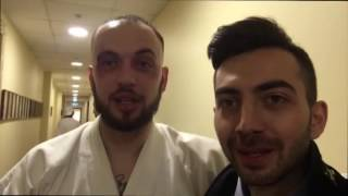 Карен Адамян на съемках клипа
