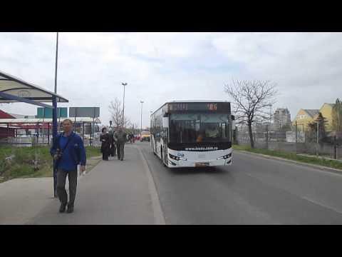 Autobuz Isuzu Citiport aflat in teste la RATB pe linia 104
