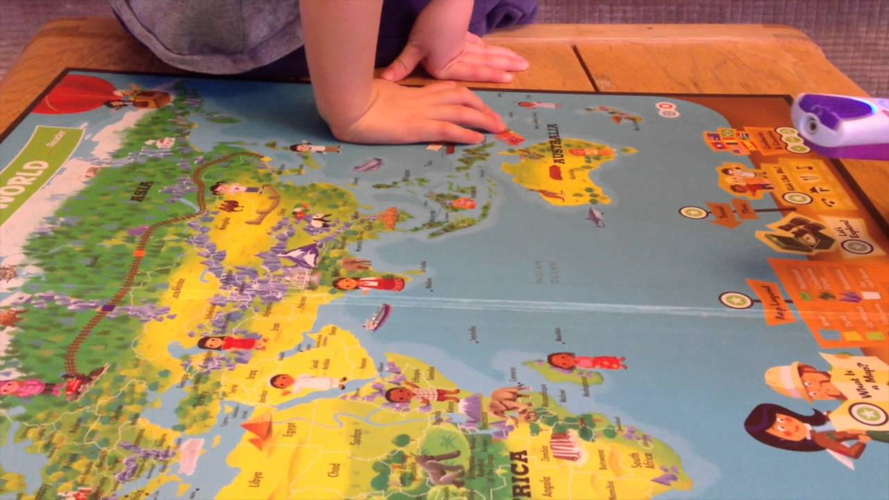 Leapreader And Interactive World Map Party Youtube
