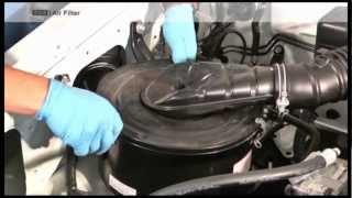 Changing an air filter on a Land Cruiser 70 series