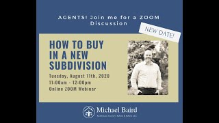Webinar: How to Buy in a New Subdivision!