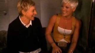 Pink & Ellen singing So What (Ellen