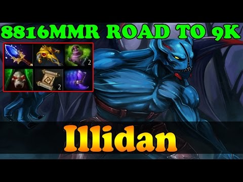 Dota 2 - Illidan 8816 MMR Plays Night Stalker Vol 2 - 2 Games - ROAD To 9K - Ranked Match Gameplay!