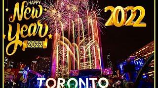Happy New Year 2020 Toronto Fireworks Countdown Downtown Celebration live capture