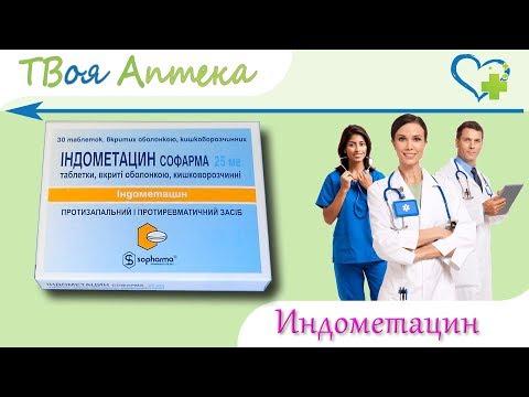 Индометацин таблетки - показания (видео инструкция) описание, отзывы