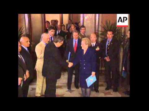 ITALY/GERMANY: US SECRETARY OF STATE MADELEINE ALBRIGHT VISIT UPDATE