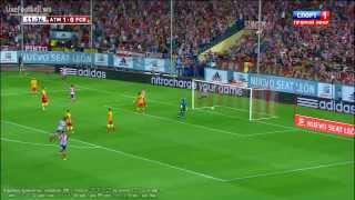 vuclip HD David Villa Goal Atletico Madrid vs Barcelona 2013 1-1