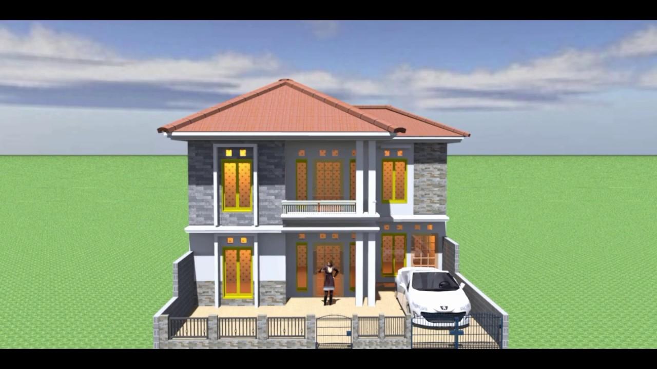 Belajar Desain Rumah 2 Lantai Dengan Sweet Home 3d Youtube