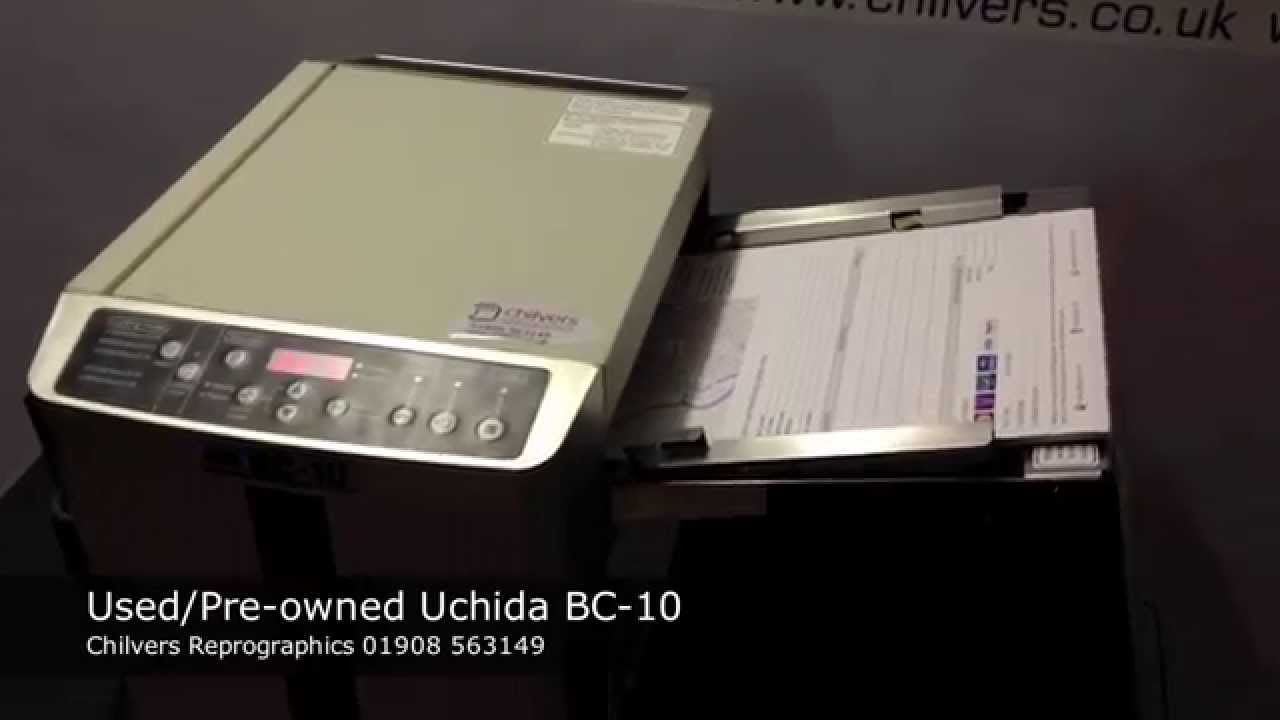 Used Pre Owned Uchida Bc 10 Business Card Cutter Youtube