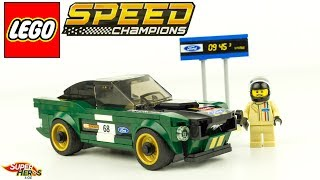 LEGO Speed Champions Ford Mustang Fastback 1968 Bullitt Speed Build 75884 Jouet Toy Kids