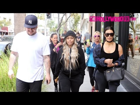 Kim Kardashian, Rob Kardashian & Blac Chyna Have Lunch Together In Beverly Hills 4.26.16