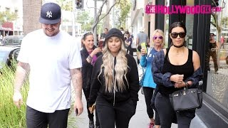 Kim Kardashian, Blac Chyna & Rob Kardashian Have Lunch Together In Beverly Hills