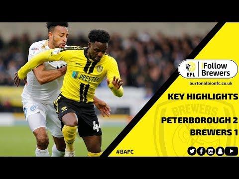 MATCH HIGHLIGHTS   Burton Albion 1-2 Peterborough United