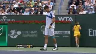 Novak Djokovic Cursing His Fan