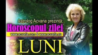 HOROSCOP ZILNIC ⭐ LUNI 7 IUNIE 2021 cu astrolog ACVARIA