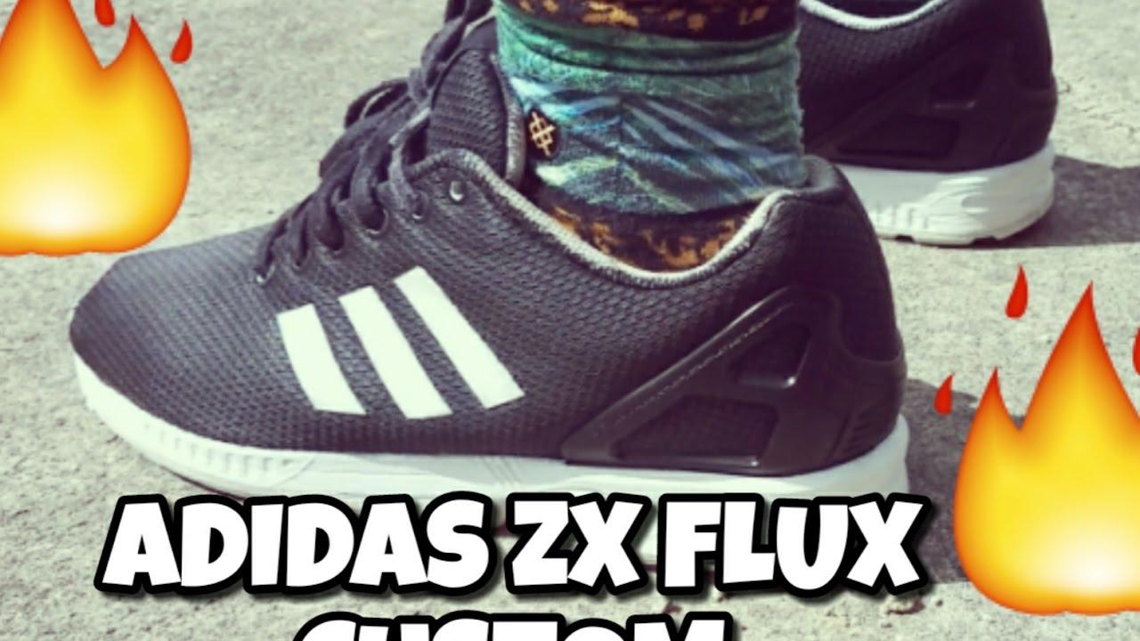 durable modeling Adidas Originals ZX Flux Winter Black Red Mens