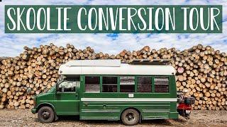 Tiny School Bus Conversion Tour | Off-Grid Bus Life