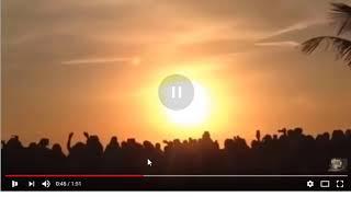 O SOL PISCA ASSUSTANDO CENTENAS DE FIEIS NAS FILIPINAS thumbnail