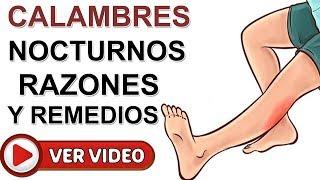 Las piernas y causas calambres remedio en
