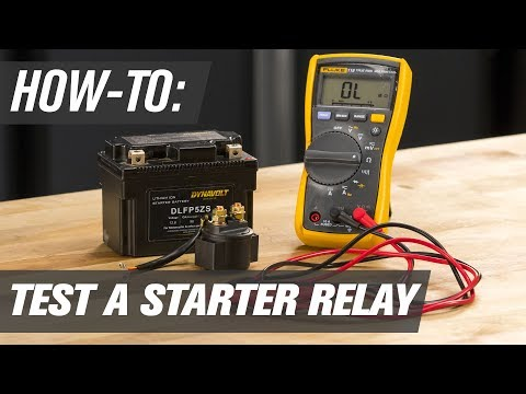 how to test a motorcycle, atv & utv starter relay - youtube  youtube
