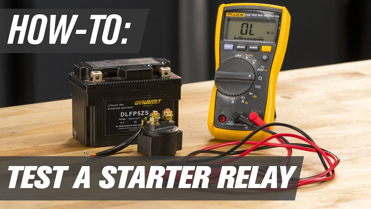 How To Test A Motorcycle, ATV & UTV Starter Relay  YouTube