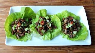 """Easy """"peking Duck"""" Lettuce Cups - Crispy Duck Lettuce Wraps Recipe"""