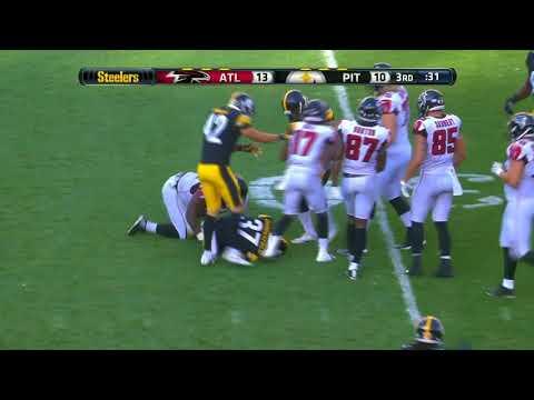 Jordan Dangerfield intercepts Matt Simms right after Falcons interception!