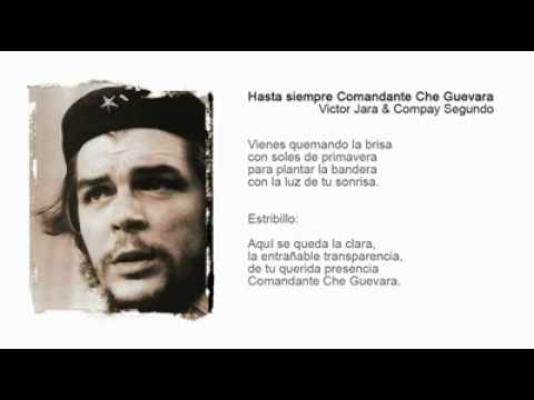 Carlos Puebla Hasta Siempre Comandante Che Guevara Lyrics Chords Chordify