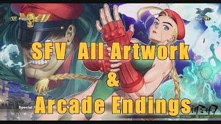 All Artwork & Arcade Endings Unlocked - STREET FIGHTER V ARCADE EDITION