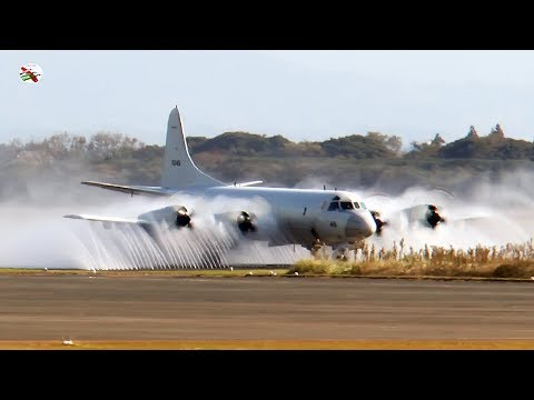 Japanese P3 Orion Taking A Shower - Filmed by James Feneley Exclusively for AIRSHOW WORLD