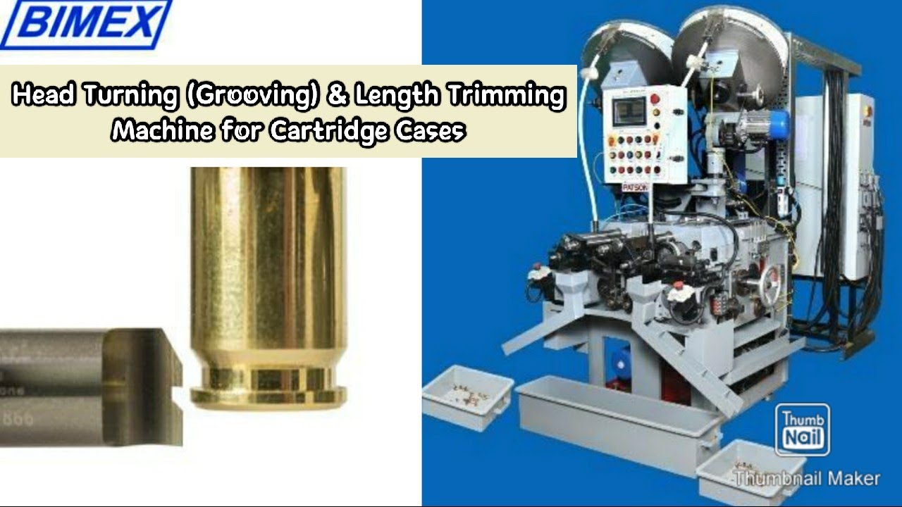 Head Turning, Mouth Chamfering & Length Trimming Machine for Cartridge Case | Ammunition Machinery
