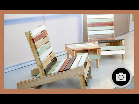 Muebles con palets youtube for Reciclado de palets sillones
