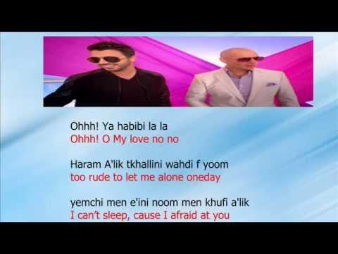Ahmed Chawki ft pitbull habibi i love you lyrics English translation and mp3 donwload