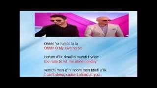 Ahmed Chawki ft pitbull habibi i love you lyrics English translation and mp3 donwload