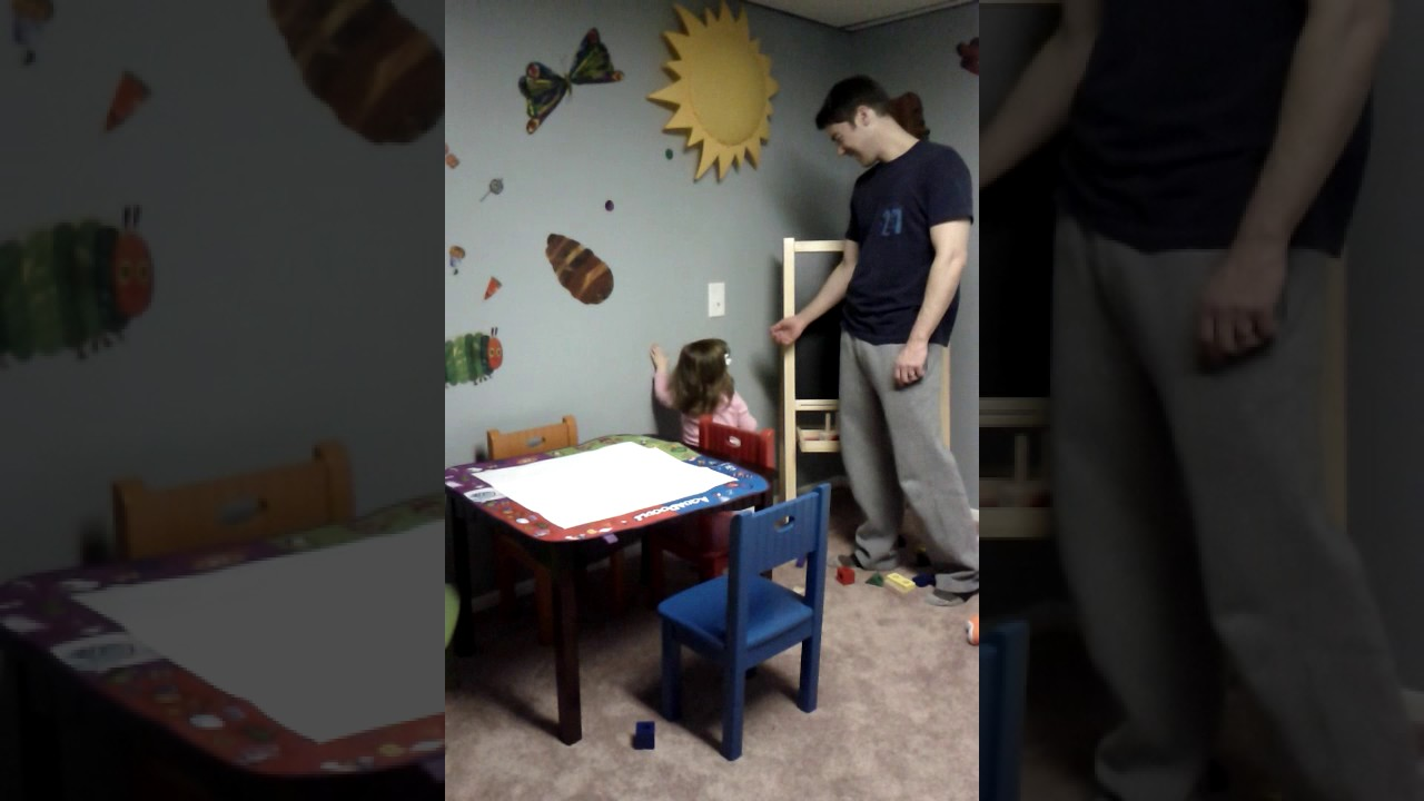 AJ 19 months old - turning light on and talking