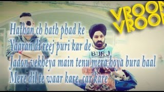 Simranjeet Feat. Badshah -Vroom Vroom (Lyrics)