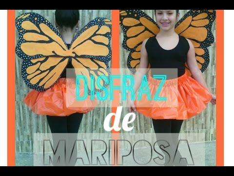Como hacer un disfraz de mariposa - Material reciclado   Marialis