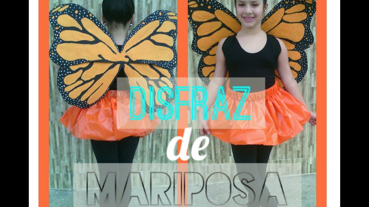como hacer un disfraz de mariposa material reciclado marialis youtube