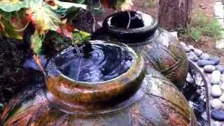 Dual Urn Design Outdoor Water Feature