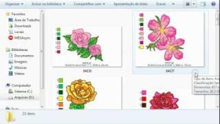 Video Aula 01 - Embird 2015 - Como Criar Catalogos de Imagens de bordados usando Embird