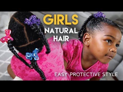 Download Youtube: #GirlsCount | QUICK Protective Hairstyle For Girls - Natural Hair