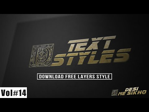 Foiling Text Styles Effects For Photoshop Download Free Vol#14