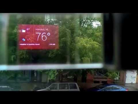 Google Glass: Real Life Demo (Looking Through Glass)