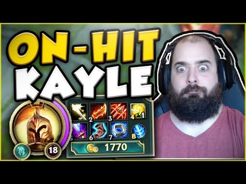 Download Youtube: WHO IS ABLE TO HANDLE THIS ON-HIT KAYLE BUILD?? KAYLE TOP GAMEPLAY SEASON 7! - League of Legends