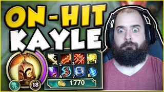 WHO IS ABLE TO HANDLE THIS ON-HIT KAYLE BUILD?? KAYLE TOP GAMEPLAY SEASON 7! - League of Legends